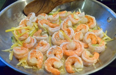 Sautéed Ginger-Scallion Shrimp | Delicious easy shrimp recipe | ShockinglyDelicious.com