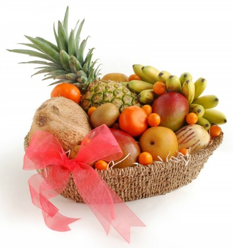 Fabulous Fruit Fare Basket from Melissas Produce