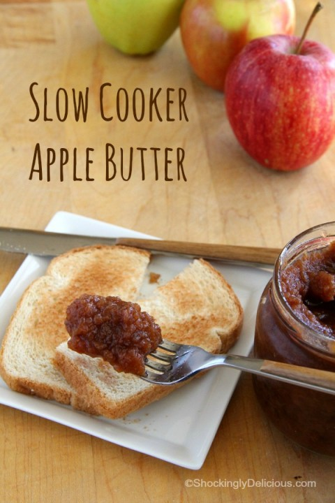 Slow Cooker Apple Butter | Spiced Crock-Pot Apple Butter Recipe | ShockinglyDelicious.com