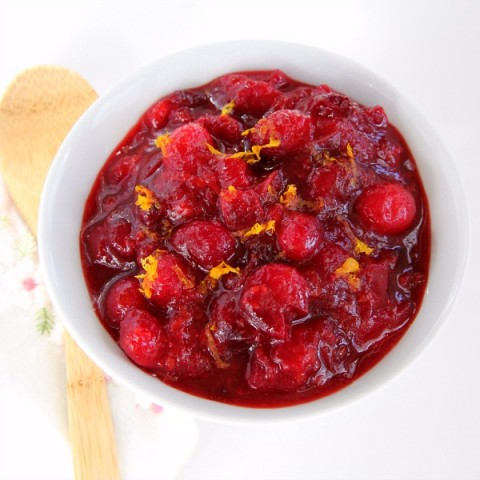 Dreamsicle Vanilla-Orange Cranberry Sauce | Vanilla Cranberry Sauce Recipe | ShockinglyDelicious.com