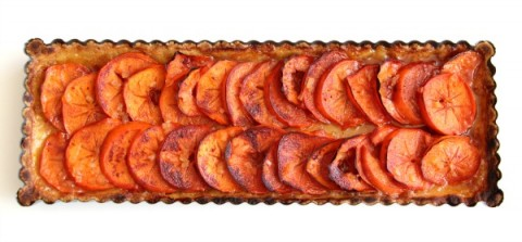 Persimmon Tart baked on ShockinglyDelicious.com