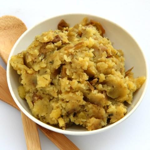 Slow Cooker Rustic Mashed Potatoes   ShockinglyDelicious.com
