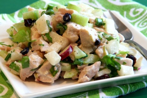 Turkey Salad with Korean Pear and Celery | ShockinglyDelicious.com