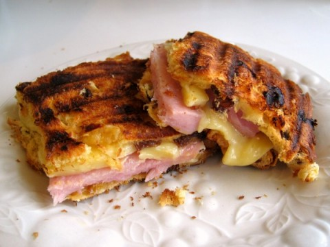 Panettone Panini   Grilled Ham and Cheese on Panettone Bread   ShockinglyDelicious.com