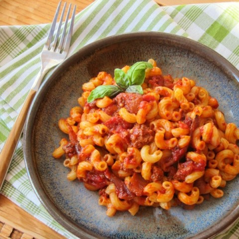 American Chop Suey   aka Goulash, Johnny Marzetti, Macaroni and Beef Recipe   Shockingly Delicious