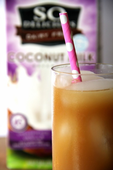 Vanilla Iced Coffee | no-dairy no-soy recipe | ShockinglyDelicious.com
