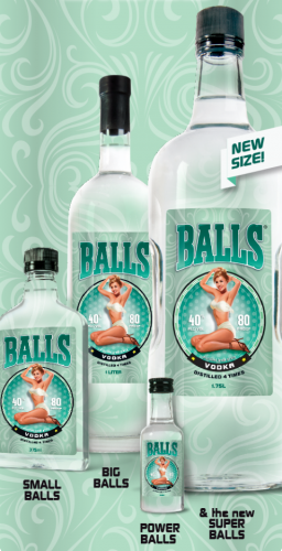 Balls Vodka funny marketing