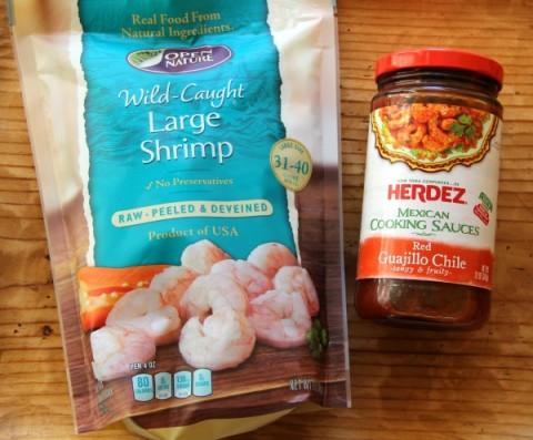 Ingredients for Red Chile Skilet Shrimp on ShockinglyDelicious.com