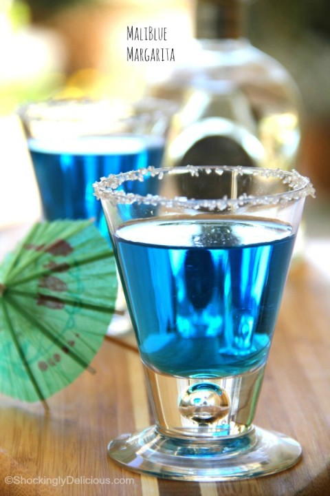 MaliBlue Margarita cocktail on ShockinglyDelicious.com