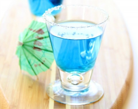 Blue Margarita Recipe | MaliBlue Margarita for National Margarita Day | ShockinglyDelicious.com