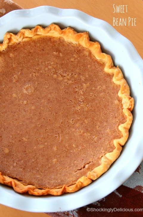 Sweet Bean Pie | Bean Pie Dessert Recipe | ShockinglyDelicious.com
