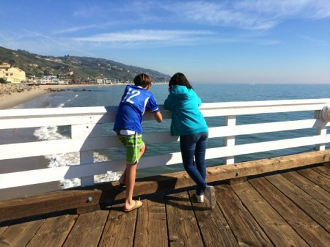 View from the Malibu Pier on ShockinglyDelicious.com