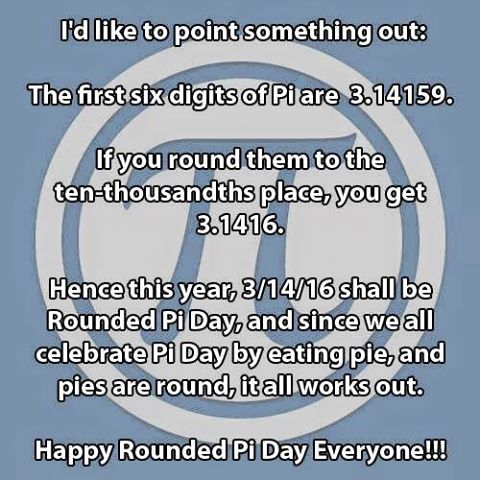 Pi Day 2016 on Shockingly Delicious.com