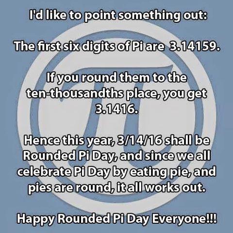 Pi Day 2016 on Shockingly Delicious.com