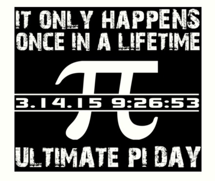 Pi Day 2015 once in a lifetime