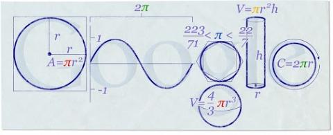 Pi Day Google Doodle 2010