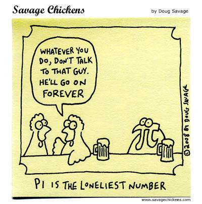 Pi cartoon by Doug Savage for Savage Chickens