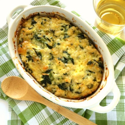 Spinach Rice Casserole Recipe| Heritage recipe for Spinach Rice Cheese vegetarian casserole | ShockinglyDelicious.com