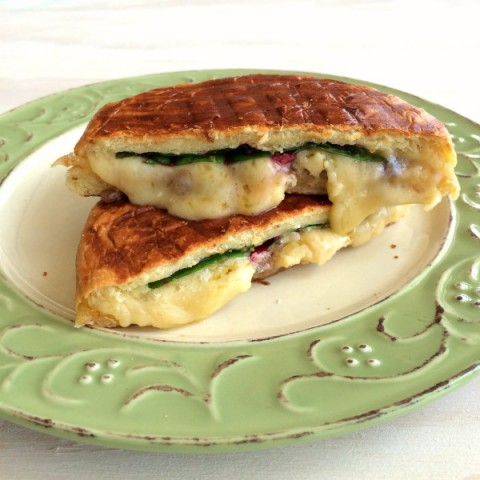 Dubliner Grilled Cheese with Chard on ShockinglyDelicious.com