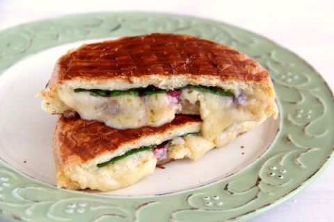 Dubliner Grilled Cheese with Chard | Great sandwich recipe for #grilledcheese month | Shockingly Delicious