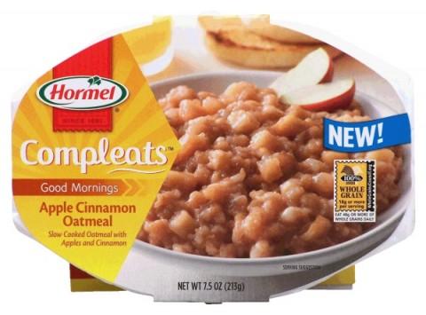 Hormel Apple Cinnamon Oatmeal Good Mornings Compleats