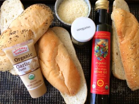 Ingredients for Epic Garlic Bread on ShockinglyDelicious.com