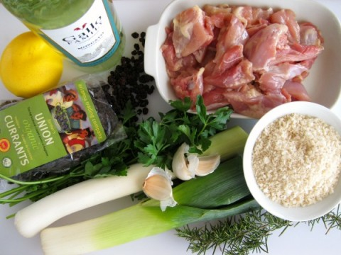 Ingredients for Lemon Leek Moscato Chicken on ShockinglyDelicious.com