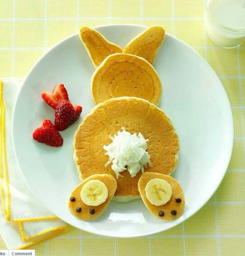 Bunny Butt pancake breakfast | Happy Easter 2015 | ShockinglyDelicious.com