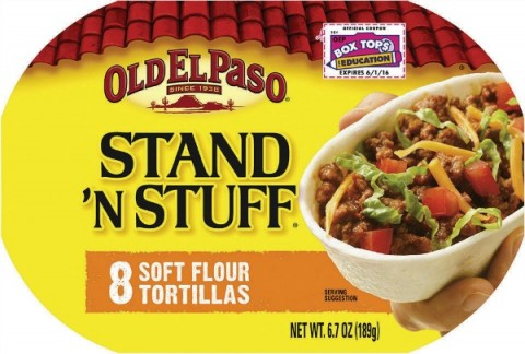 Old El Paso standnstuff soft flour tortillas