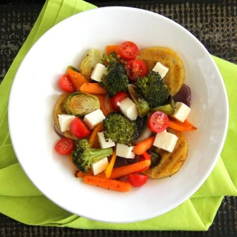 Panela Polenta Vegetable Bowl dinner recipe on ShockinglyDelicious.com