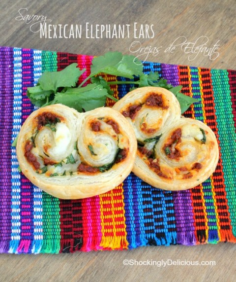 Savory Mexican Elephant Ears appetizer recipe on ShockinglyDelicious.com