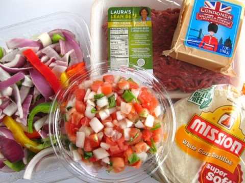 Ingredients for Beef Migas recipe on ShockinglyDelicious.com