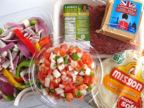 Ingredients for Beef Migas recipe on ShockinglyDelicious.com