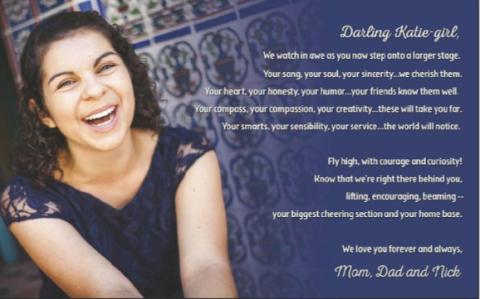Katie Reinhold yearbook 2015 ad