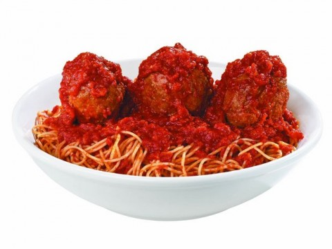 Spaghetti and Meatballs at Buca di Beppo | Throw your graduation party at Buca di Beppo | ShockinglyDelicious.com