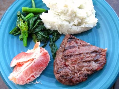 Angus Beef Steak dinner on ShockinglyDelicious.com