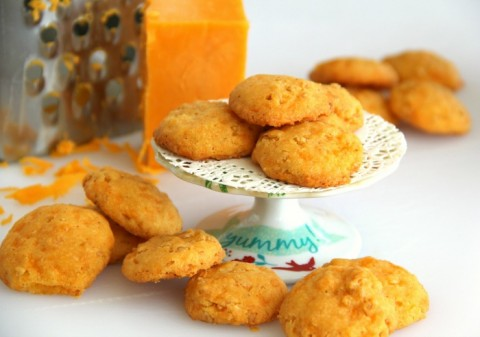 Cheese Crispies | Savory cheese cracker-cookie appetizer recipe | ShockinglyDelicious.com
