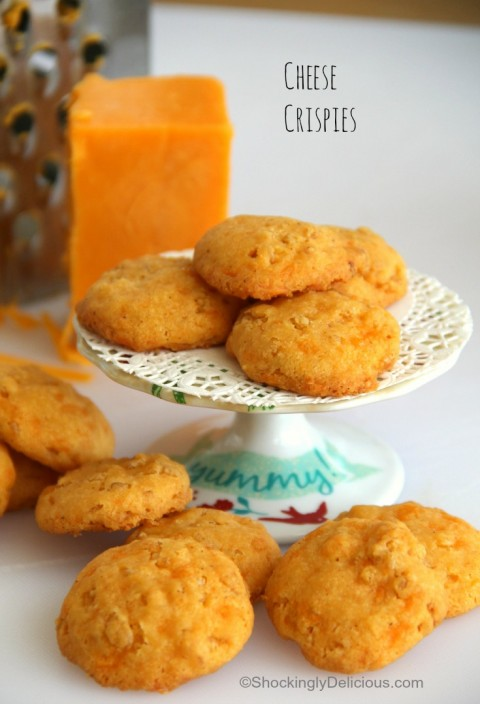 Cheese Crispies   Savory cheese cracker-cookie appetizer recipe   ShockinglyDelicious.com
