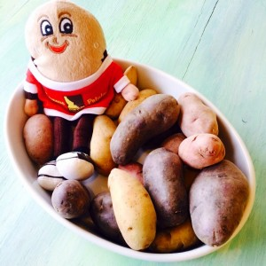 Spuddy Buddy in a jacuzzi of Idaho fingerling potatoes on ShockinglyDelicious.com