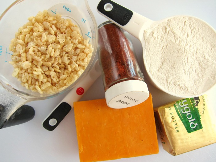 Ingredients assembled on a white counter