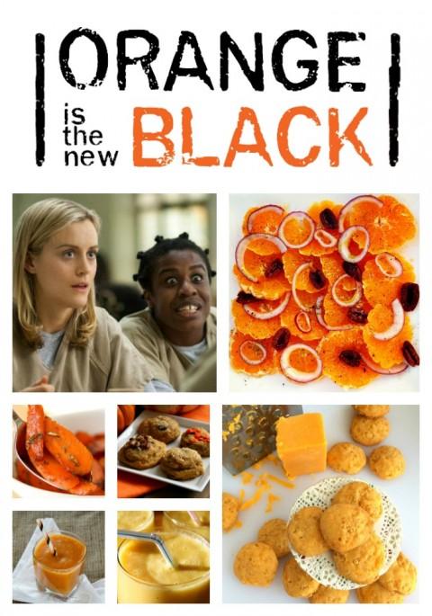 Orange recipes for the new season of Orange is the New Black on ShockinglyDelicious.com
