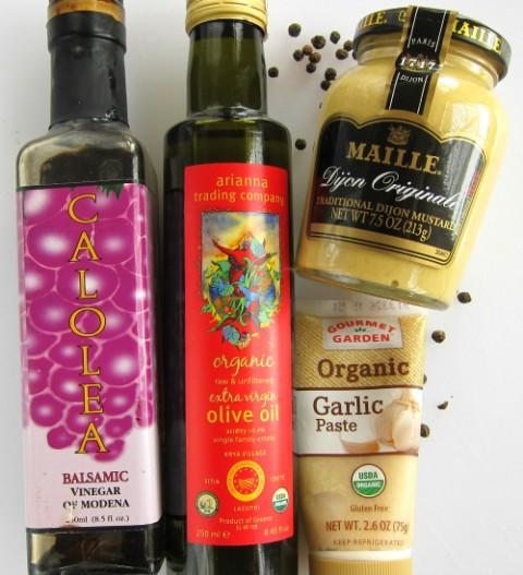 Ingredients for salad dressing Grilled Rainbow Potato Salad on ShockinglyDelicious.com