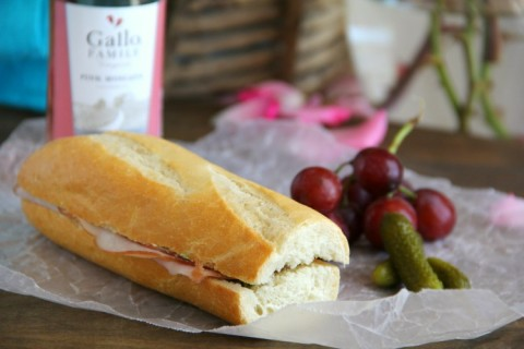 French Ham and Butter Sandwich perfect for a picnic on ShockinglyDelicious.com