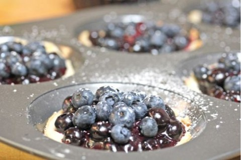 Fresh Mini Blueberry Pies on ShockinglyDelicious.com