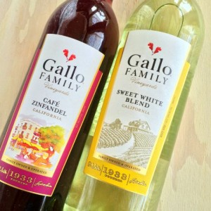 Gallo Family Vineyards Sweet White Blend and Cafe Zinfandel on ShockinglyDelicious.com