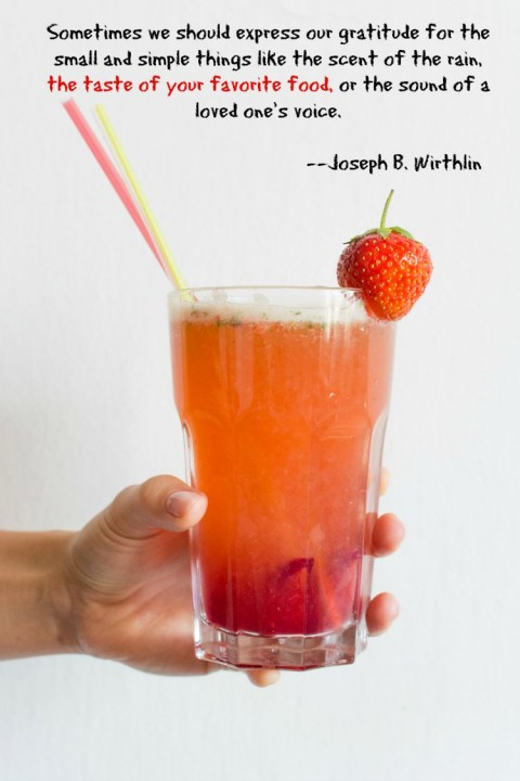 Strawberry Basil Lemonade | Special lemonade recipe for National Gratitude Day | ShockinglyDelicious.com