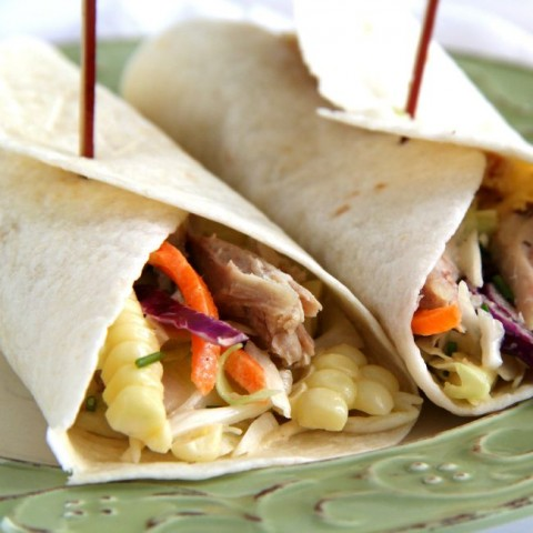 Chicken Cole Slaw Wrap on ShockinglyDelicious.com