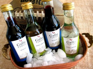 Gallo Family Vineyards mini bottles for tailgating parties on ShockinglyDelicious.com