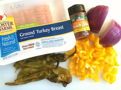 Ingredients for Triple Hatch Chile Turkey Bowl Dinner on ShockinglyDelicious.com