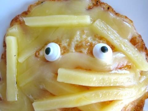 Cheesy Egg Mummy eyeballs on ShockinglyDelicious.com